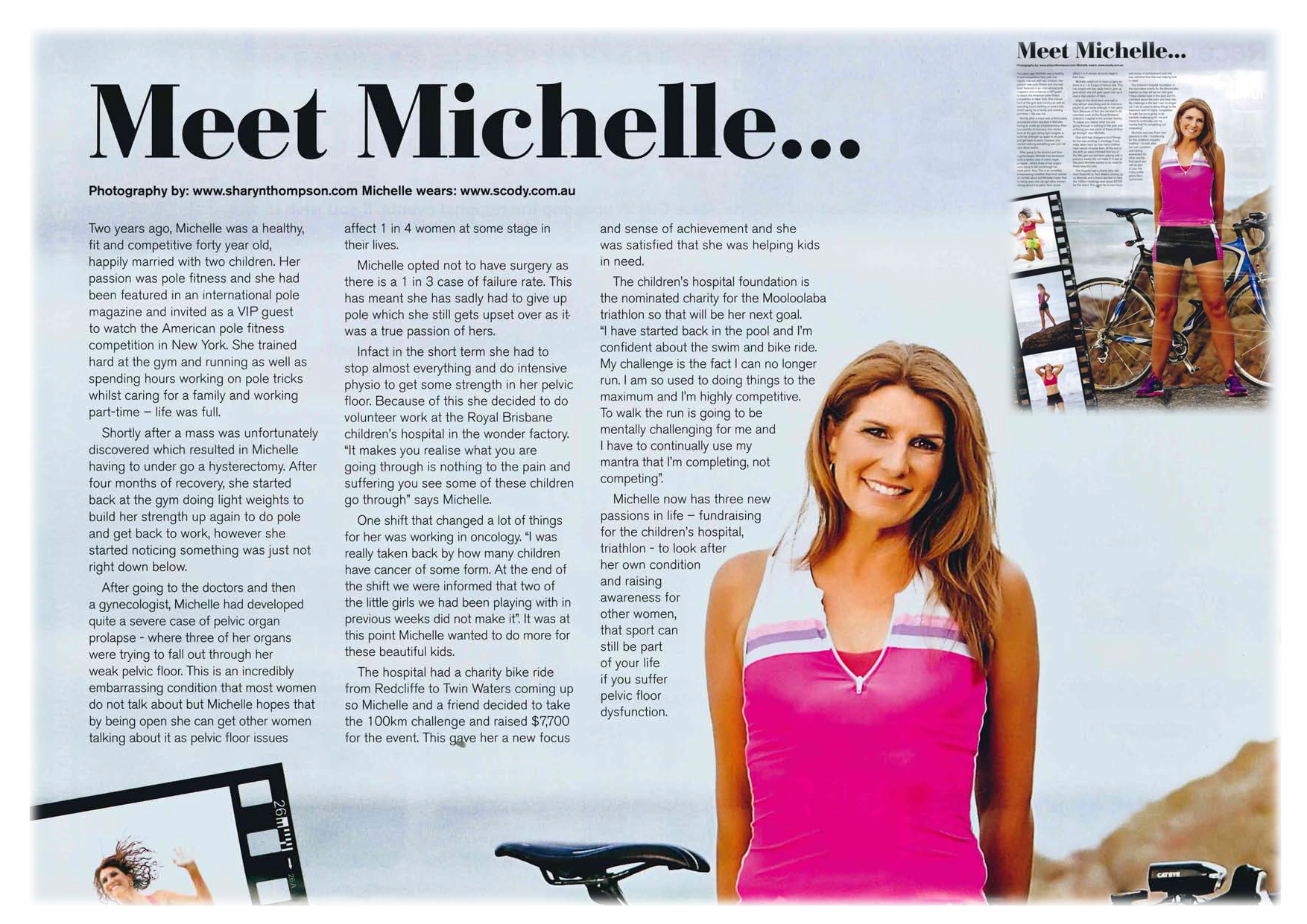 Multisport Magazine Issue 12 June 2014 - Michelle's Case study